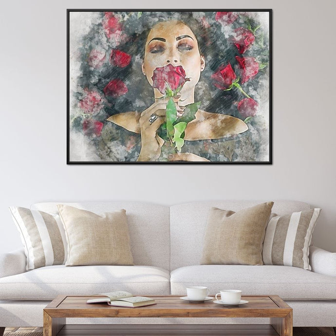 Girl and the Roses 3 - Mateo - NicheCanvas