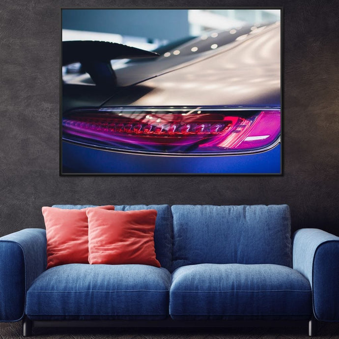 Modern Supercar Multi Panel Canvas Wall Art - NicheCanvas