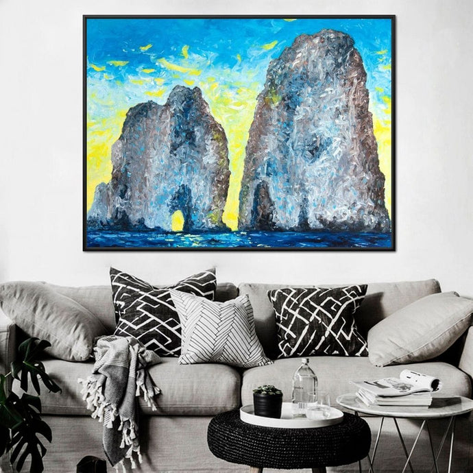 Capri at Sunrise - Chiara Magni Large Floating Frame