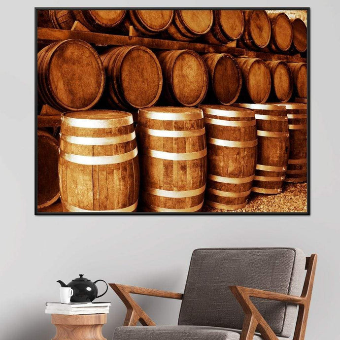 Tequila Barrels Multi Panel Canvas Wall Art - NicheCanvas