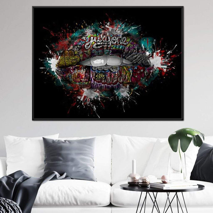 Graffiti Lips - Johanjjf - NicheCanvas