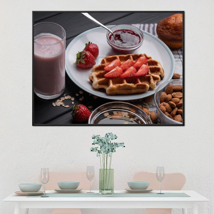 Homemade Waffles Multi Panel Canvas Wall Art - NicheCanvas