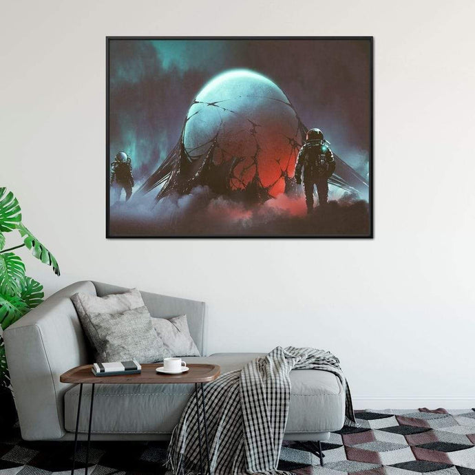 Sci Fi Horror Large Floating Frame