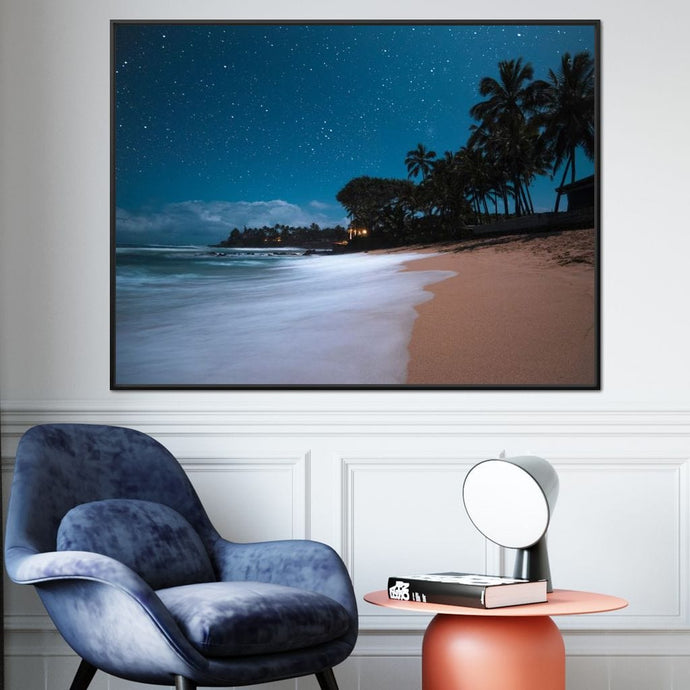 Tropical Night - Lucas Moore Large Floating Frame