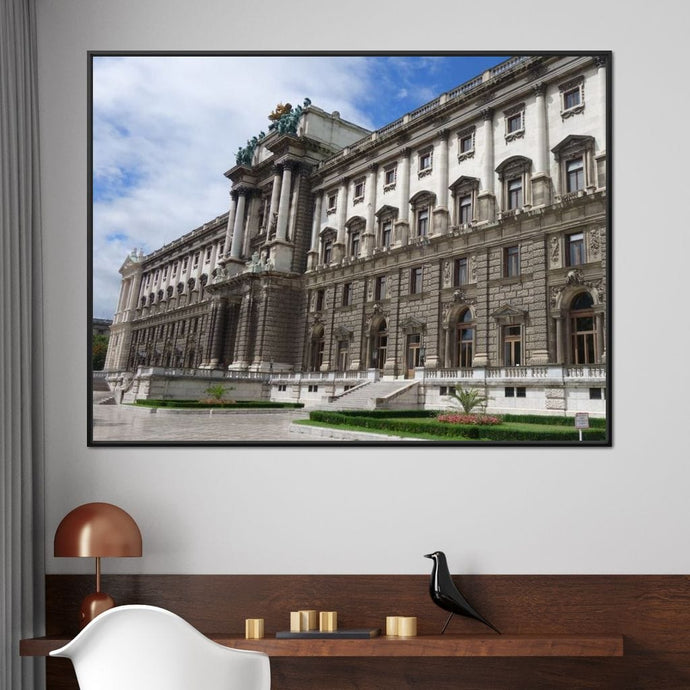 Habsburg Palace - Corinne Gravel Multi Panel Canvas Wall Art - NicheCanvas