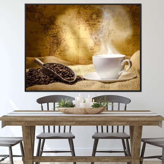World of Coffee Multi Panel Canvas Wall Art - NicheCanvas
