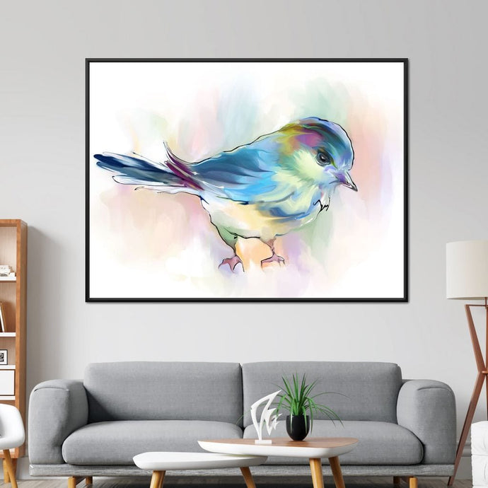 Watercolor Bird - NicheCanvas