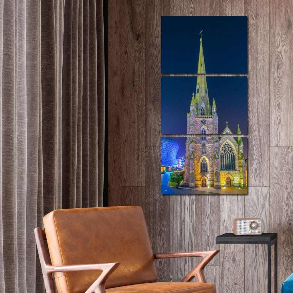 Saint Martin Church at Night - NicheCanvas
