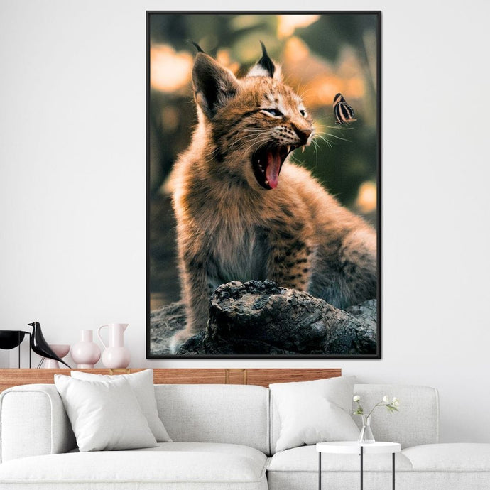 Lynx Cub - Zenzdesign Multi Panel Canvas Wall Art - NicheCanvas