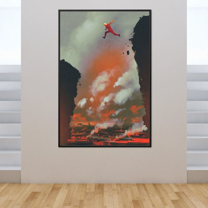 Jumping Over Lava - NicheCanvas