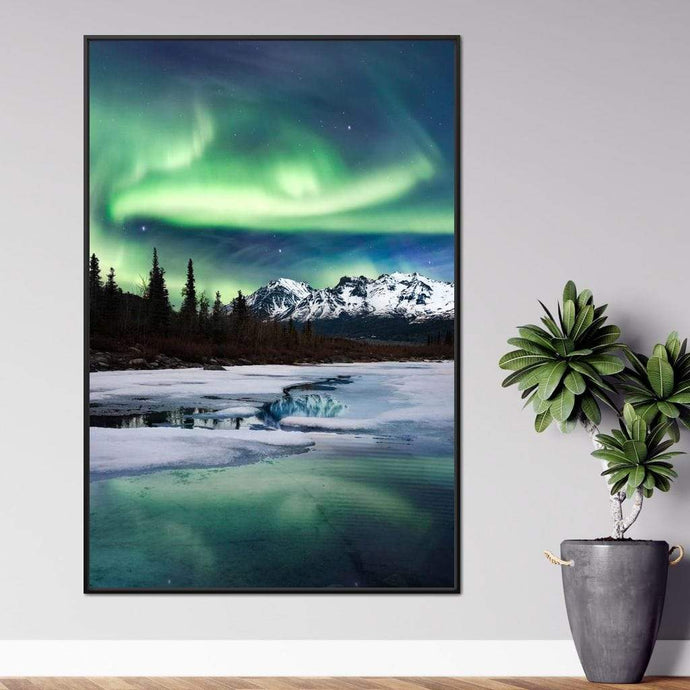 Northern Lights Landscape - Lucas Moore Huge Floating Frame