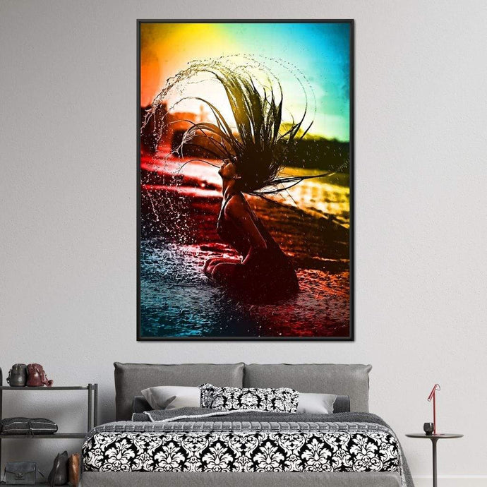 Neon Summer Days - Johanjjf Multi Panel Canvas Wall Art - NicheCanvas