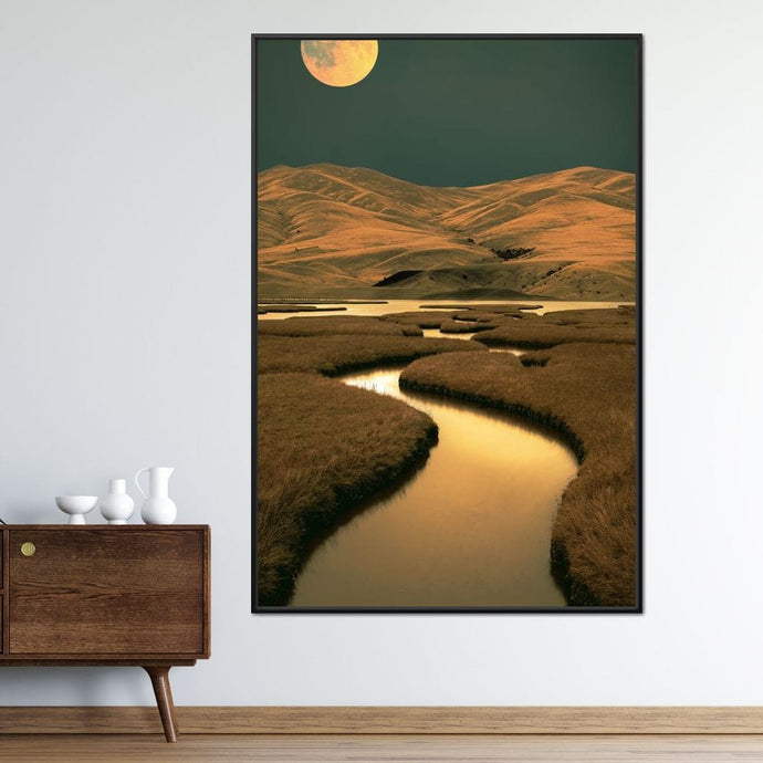 River of Gold Night - Aaron Larson - NicheCanvas