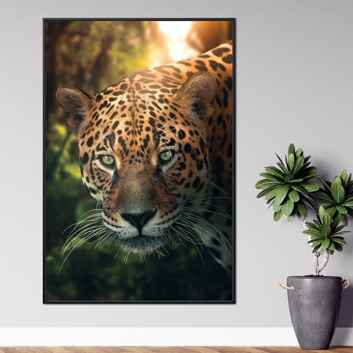 Leopard Amazone - Zenzdesign Multi Panel Canvas Wall Art - NicheCanvas