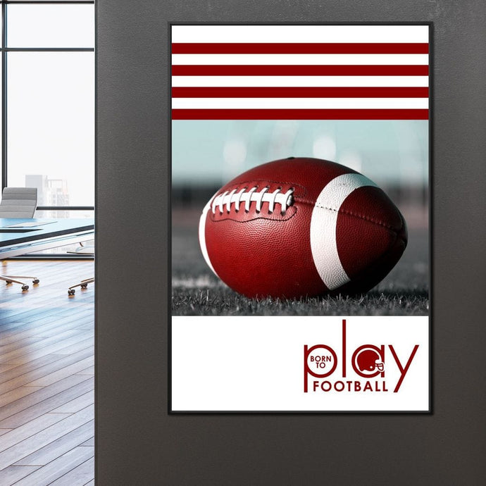 Born To Play Football - ABConcepts - NicheCanvas