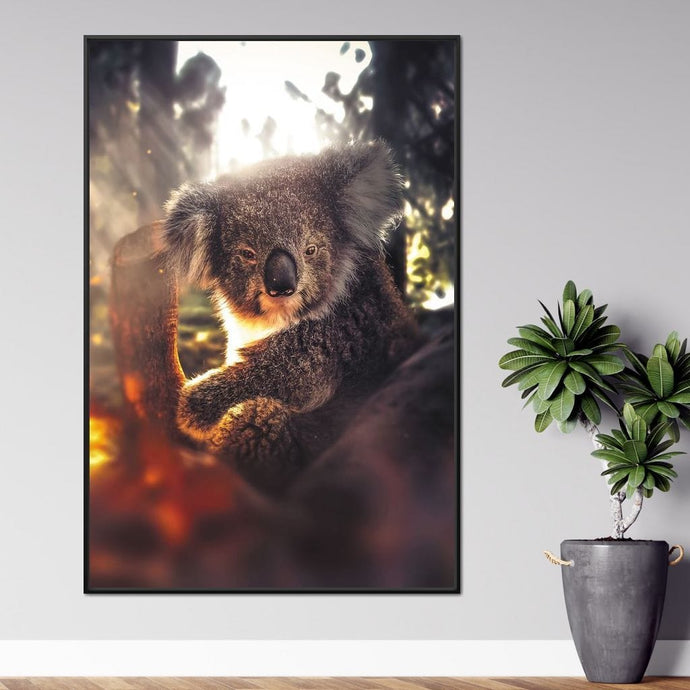 Koala - Zenzdesign Multi Panel Canvas Wall Art - NicheCanvas