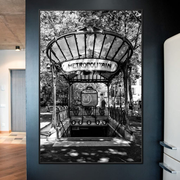 Abbesses Metropolitain - Philippe Hugonnard - NicheCanvas