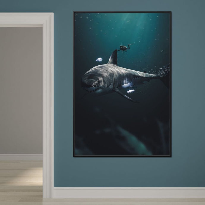 Megalodon - Zenzdesign Multi Panel Canvas Wall Art - NicheCanvas