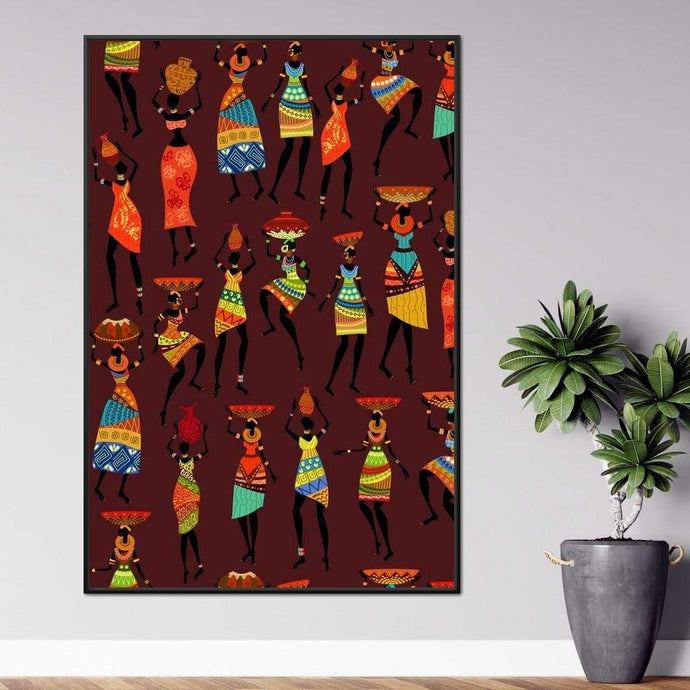 Traditional African Women Multi Panel Canvas Wall Art - NicheCanvas