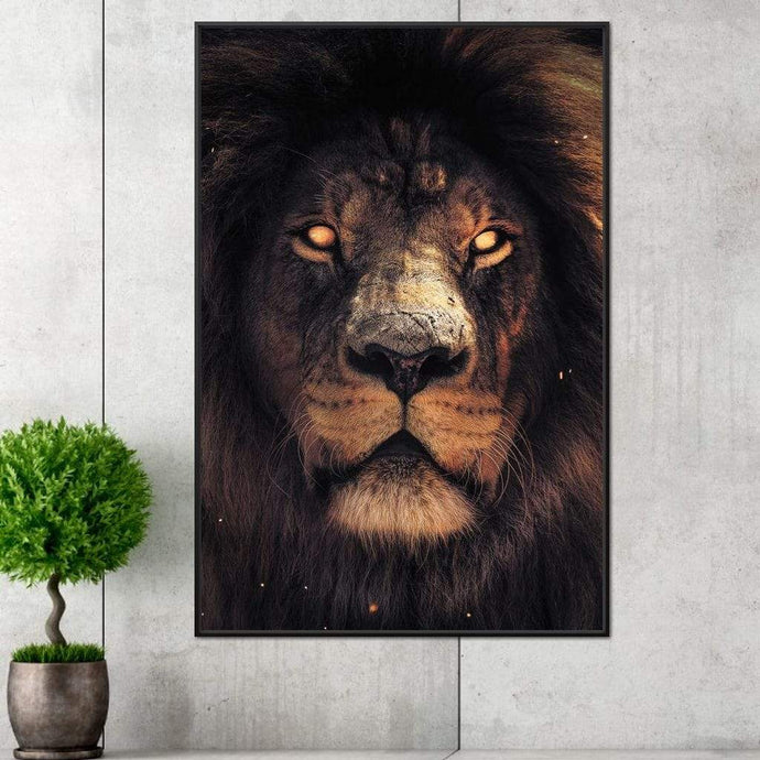 Scary Lion - Zenzdesign Multi Panel Canvas Wall Art - NicheCanvas