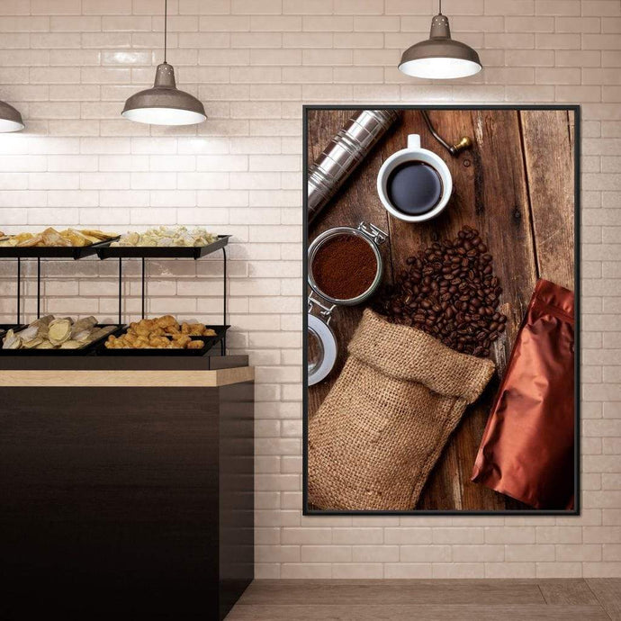 Fresh Coffee Bag Multi Panel Canvas Wall Art - NicheCanvas