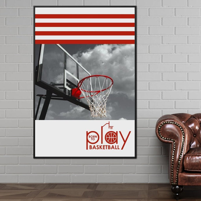 Born To Play Basketball - ABConcepts - NicheCanvas