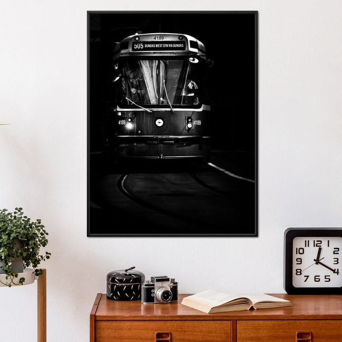 Dundas Streetcar - Brian Carson Multi Panel Canvas Wall Art - NicheCanvas
