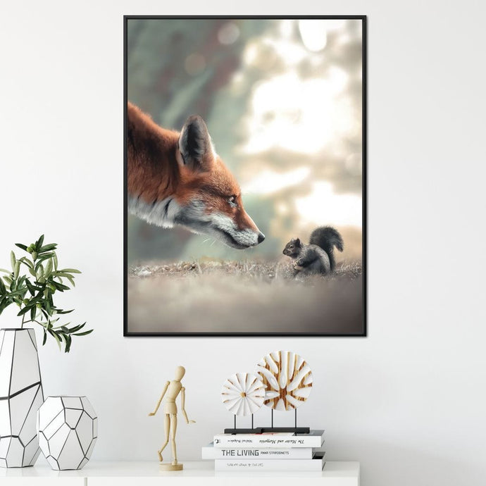 Fox Meets Squirrel - Zenzdesign - NicheCanvas