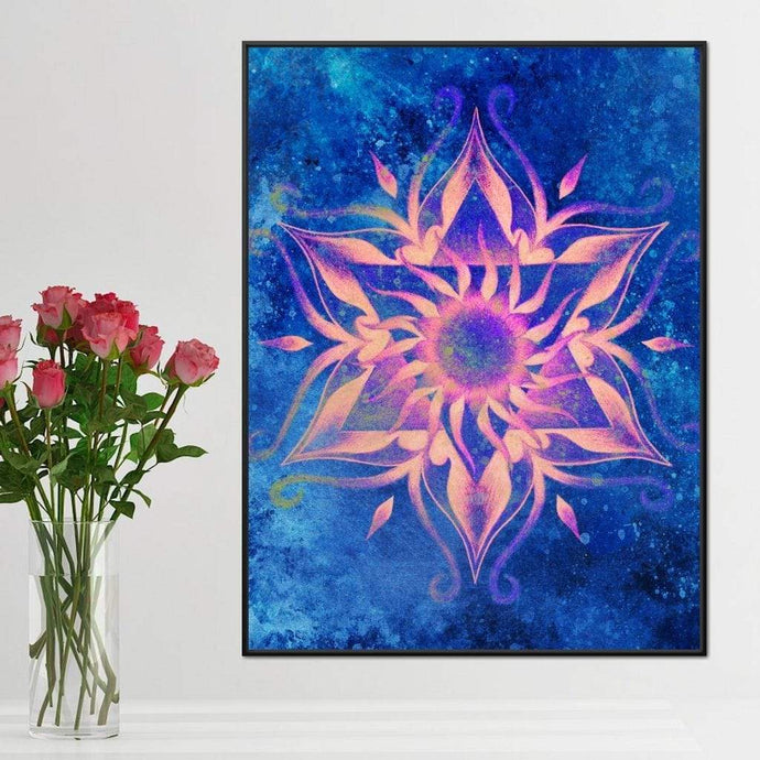 Pink Mandala Multi Panel Canvas Wall Art - NicheCanvas