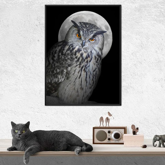 Moonlight Owl - NicheCanvas