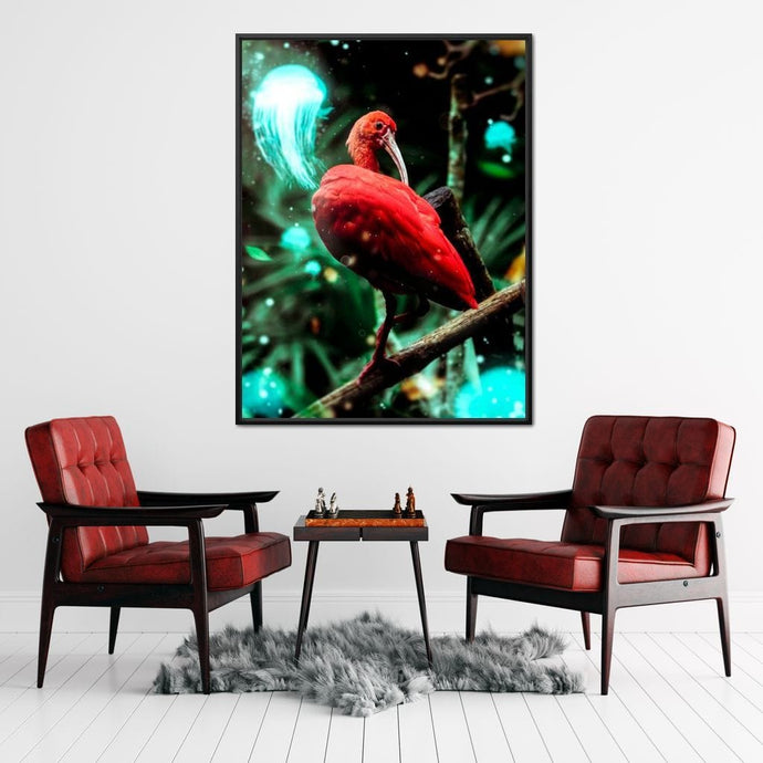 Red Bird - Manuel Alejandro - NicheCanvas