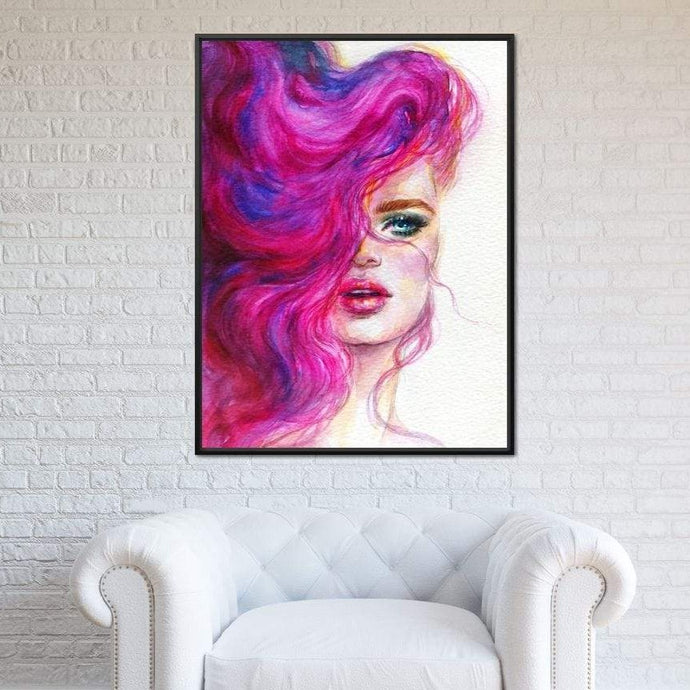 Pink Haired Portrait - NicheCanvas