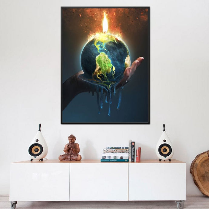 Holding the Earth - NicheCanvas