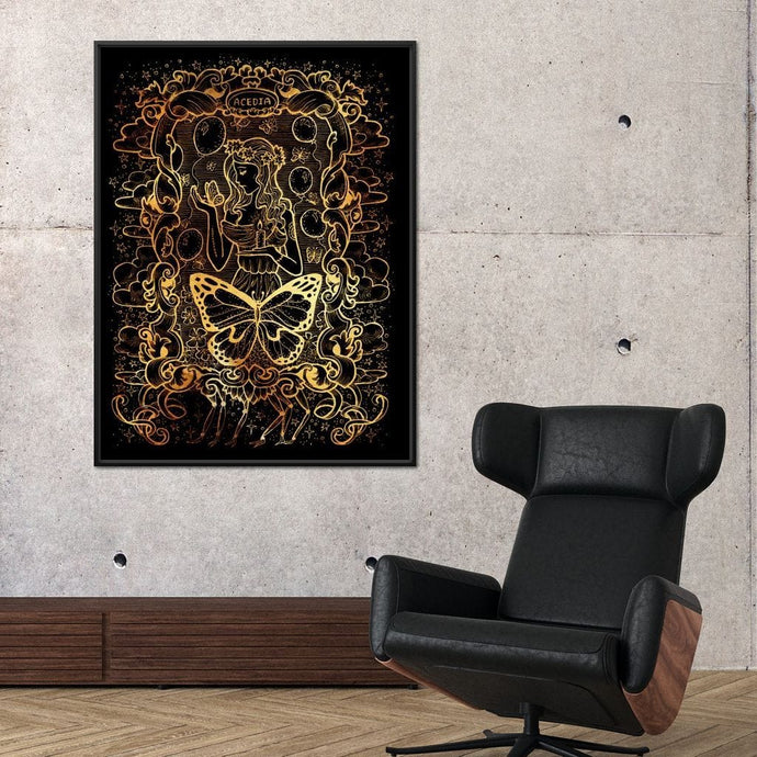 Acedia Despair - Seven Deadly Sins Large Floating Frame