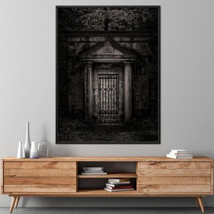 Tombstone Shadow 1911 - Brian Carson Multi Panel Canvas Wall Art - NicheCanvas