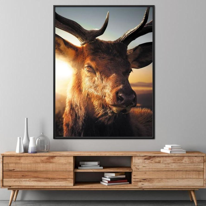 Deer - Zenzdesign Multi Panel Canvas Wall Art - NicheCanvas