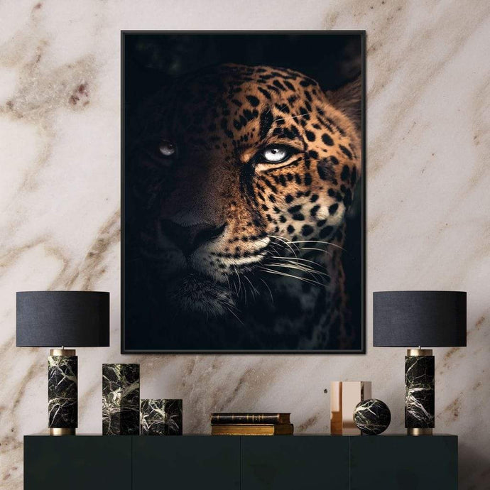 Jaguar Half - Zenzdesign Multi Panel Canvas Wall Art - NicheCanvas