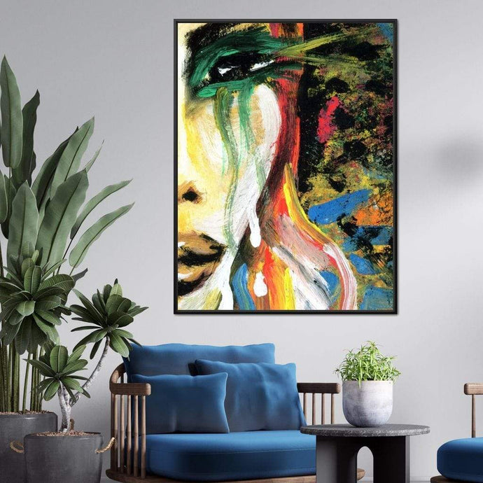 Emotional Lady Multi Panel Canvas Wall Art - NicheCanvas