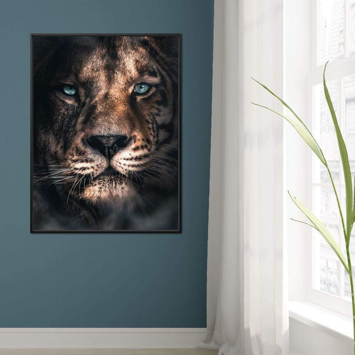 Lion Tiger - Zenzdesign Multi Panel Canvas Wall Art - NicheCanvas