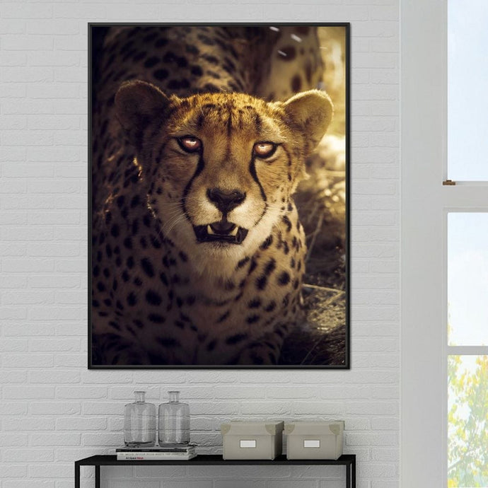 Cheetah - Zenzdesign Multi Panel Canvas Wall Art - NicheCanvas