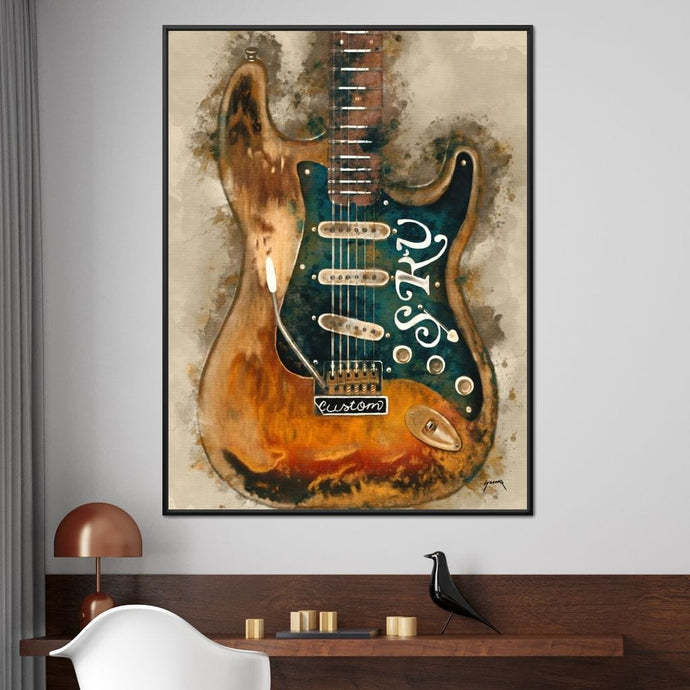 Stevie Ray Vaughan's Guitar - Abraham Szomor - NicheCanvas