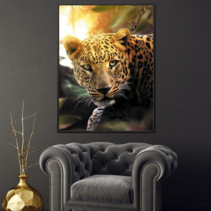 Leopard - Zenzdesign Multi Panel Canvas Wall Art - NicheCanvas