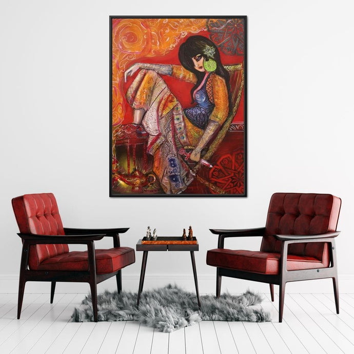 Jasmine and the Lamp - Qusay-Art - NicheCanvas