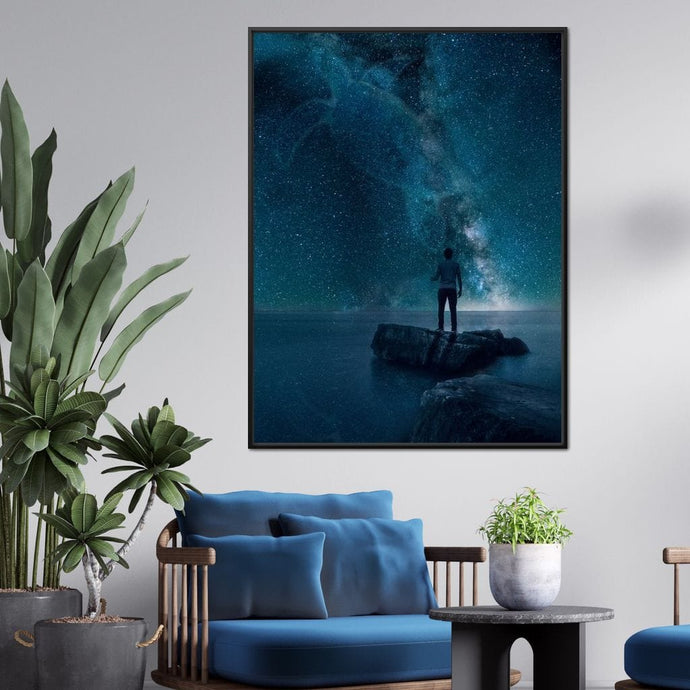 Lone Sea Turtle Galaxy - Kit Burden - NicheCanvas