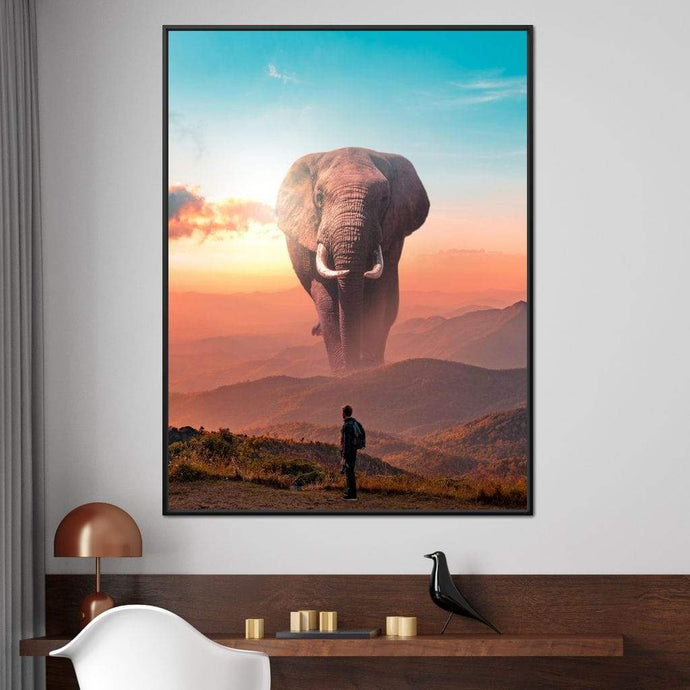 Elephant Mountain - Alexgraphex Multi Panel Canvas Wall Art - NicheCanvas