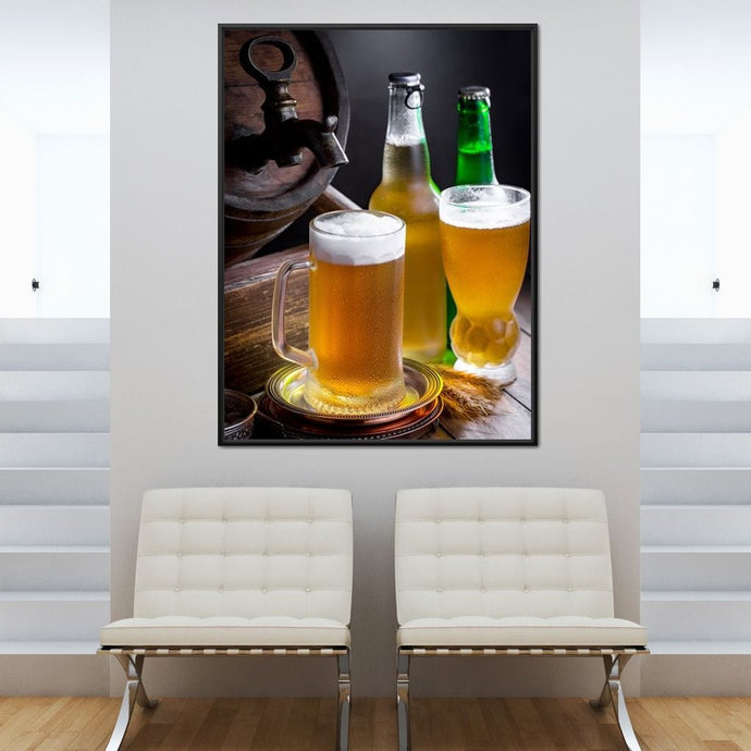 Light Beers Multi Panel Canvas Wall Art - NicheCanvas