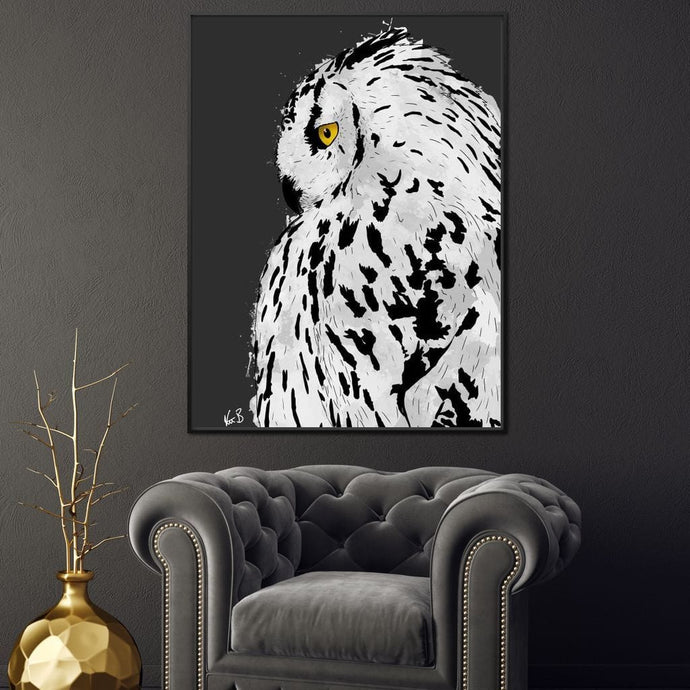 Snowy Owl - Kit Burden - NicheCanvas