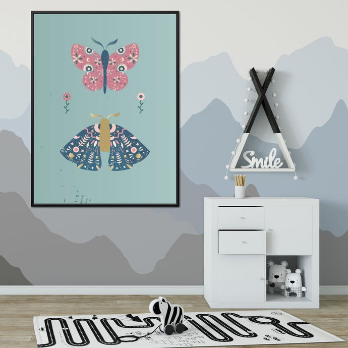 Butterflies Illustration - Les Damoiselles - NicheCanvas