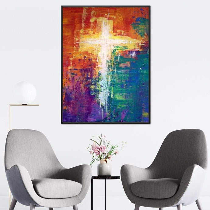 Abstract Cross - NicheCanvas