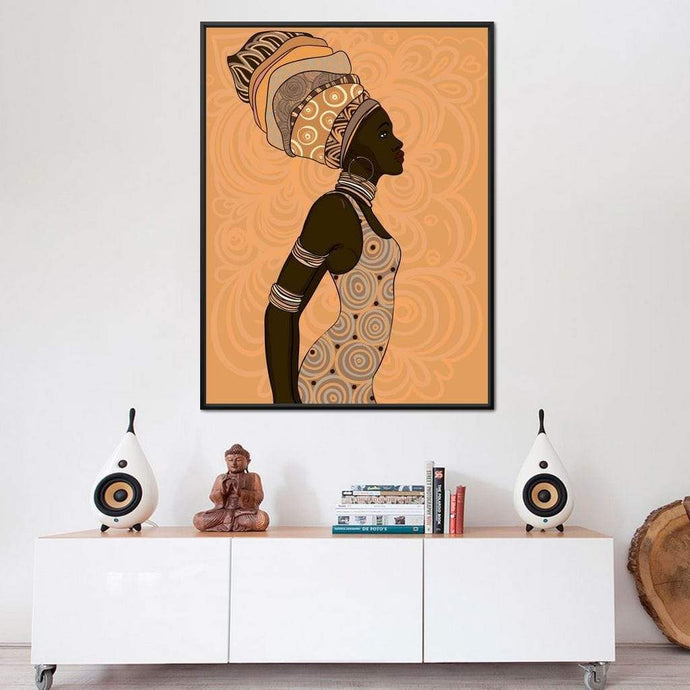African Lady Multi Panel Canvas Wall Art - NicheCanvas